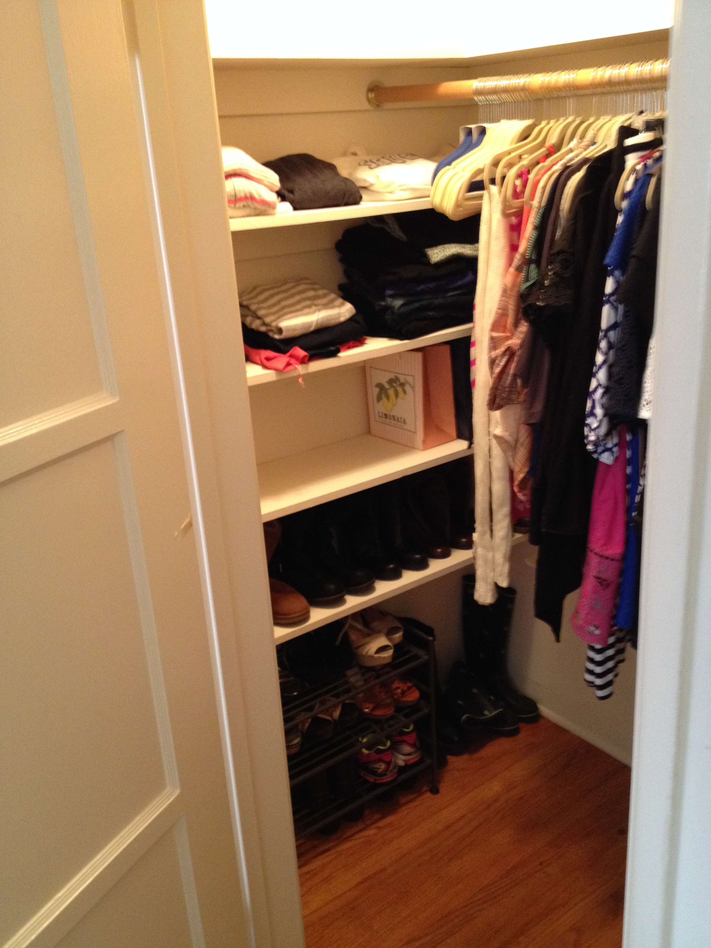 Lovely Cluttered Closet #1 Redone!