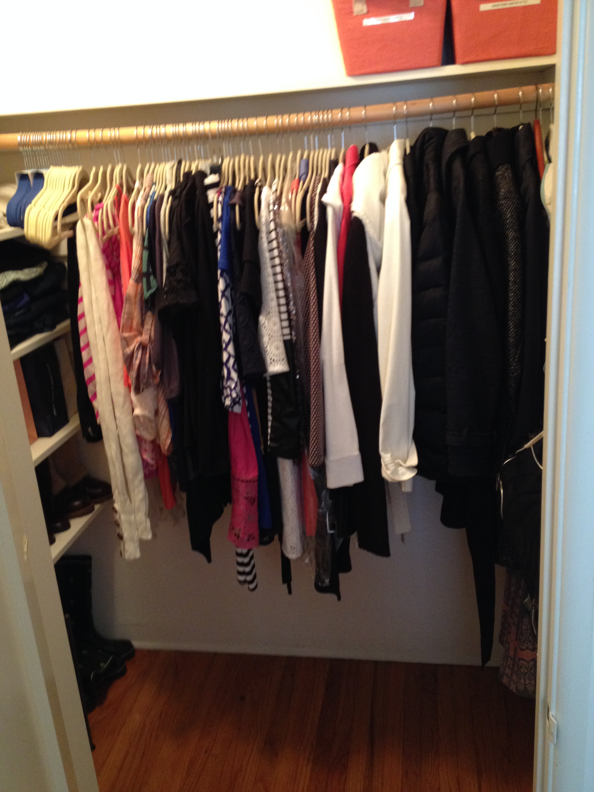 Cluttered Closet #1 Side View Solved!